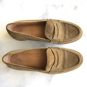 Madewell The Elinor Loafer In Suede